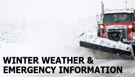 Winter weather and emergency information