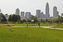 view of city skyline from Independence Park